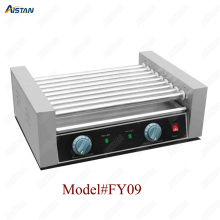 FY05 Stainless steel commercial hot dog grill/sausage grill/countertop electric hot dog making machine roller rolling machine best price electric grill pan stainless steel roaster fried meat pancake making machine for home commercial use