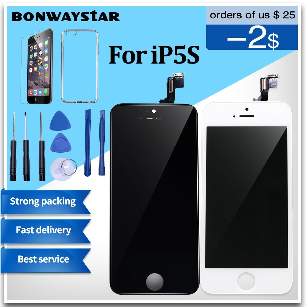 AAA Screen Für iPhone 5 5 s LCD Display Touchscreen Digitizer Ersatz Glas Modul für iPhone 4 s 6 LCD Bildschirm Keine Tote Pixel