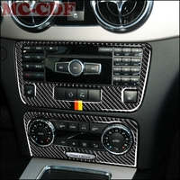 Car styling For Mercedes Benz GLK300 260 350 2013 2015 Carbon Fiber Dashboard Central Console CD Panel Control Cover Trim