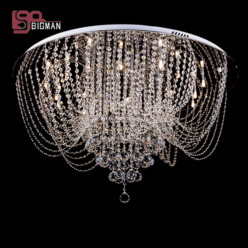 Promotion sales new big crystal chandeliers lighting fixture Dia80cm luxury living room lights big promotion 100