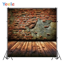 Yeele Grunge Brown Brick Wall Wooden Board Planks Personalized Photographic Backdrops Photography Backgrounds For Photo Studio