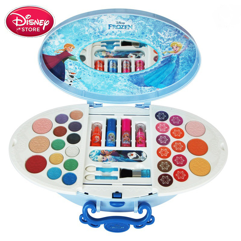 Disney Frozen Makeup Toys For Girls Princess Rapunzel Snow White Elsa Anna Play Make Up Toy Pretend Makeup Set For Kids