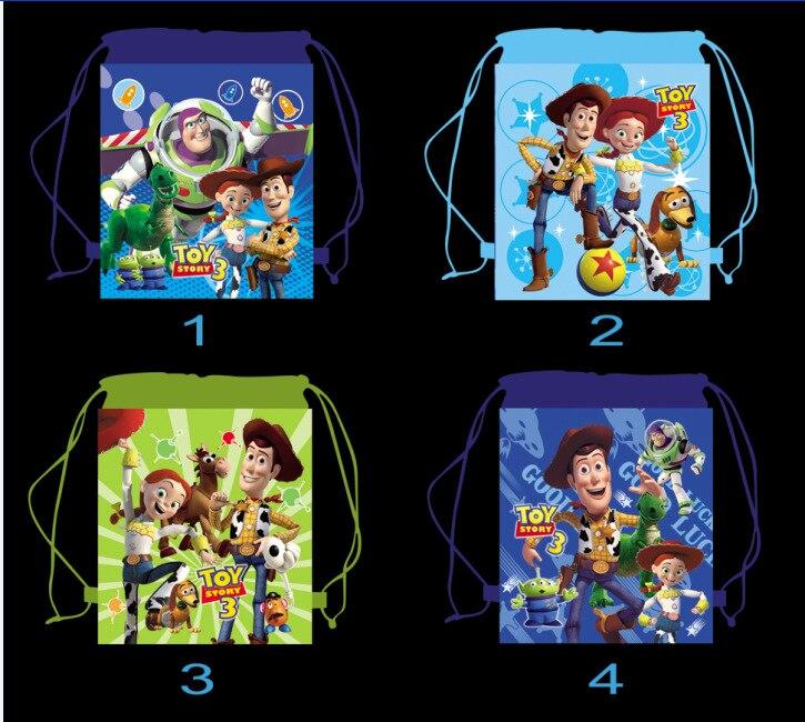 12 Stücke Toy Story Cartoon Kinder Kordelzug Gedruckt Rucksack Einkaufs Schule Reisen Partei Taschen Geburtstagsgeschenke