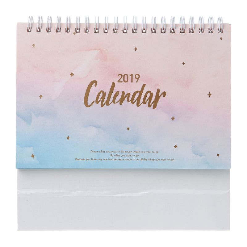Dreamy Colorful Sky 2019 Desktop Standing Coil Paper Calendar Memo Daily Schedule Table Planner Yearly Agenda Organizer Dreamy Colorful Sky 2019 Desktop Standing Coil Paper Calendar Memo Daily Schedule Table Planner Yearly Agenda Organizer