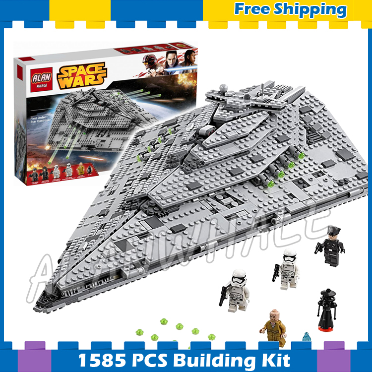 1585pcs Space Wars First Order Star Destroyer Set Spaceship 05131 Model Building Blocks Teenager Gifts Sets Compatible With Lego все цены