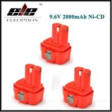 Bateria para Makita Ferramenta de Poder Eleoption 3 Pcs 9.6 V Volt 2.0ah 2000 Mah Ni-cd 9100 9101 9102 9100a 9101a