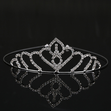 Hot Selling Crystal Silver & Gold Plated Wedding Bridal Tiara Women Girls Rhinestone Pageant Tiaras And Crowns For Bride THSC003