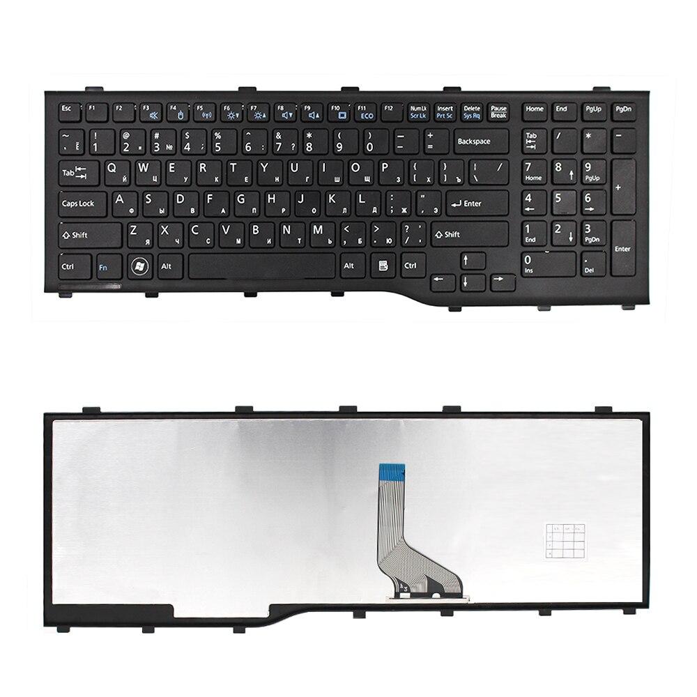 For Fujitsu AH532 A532 N532 NH532 RU Russian Black laptop keyboard with black frame