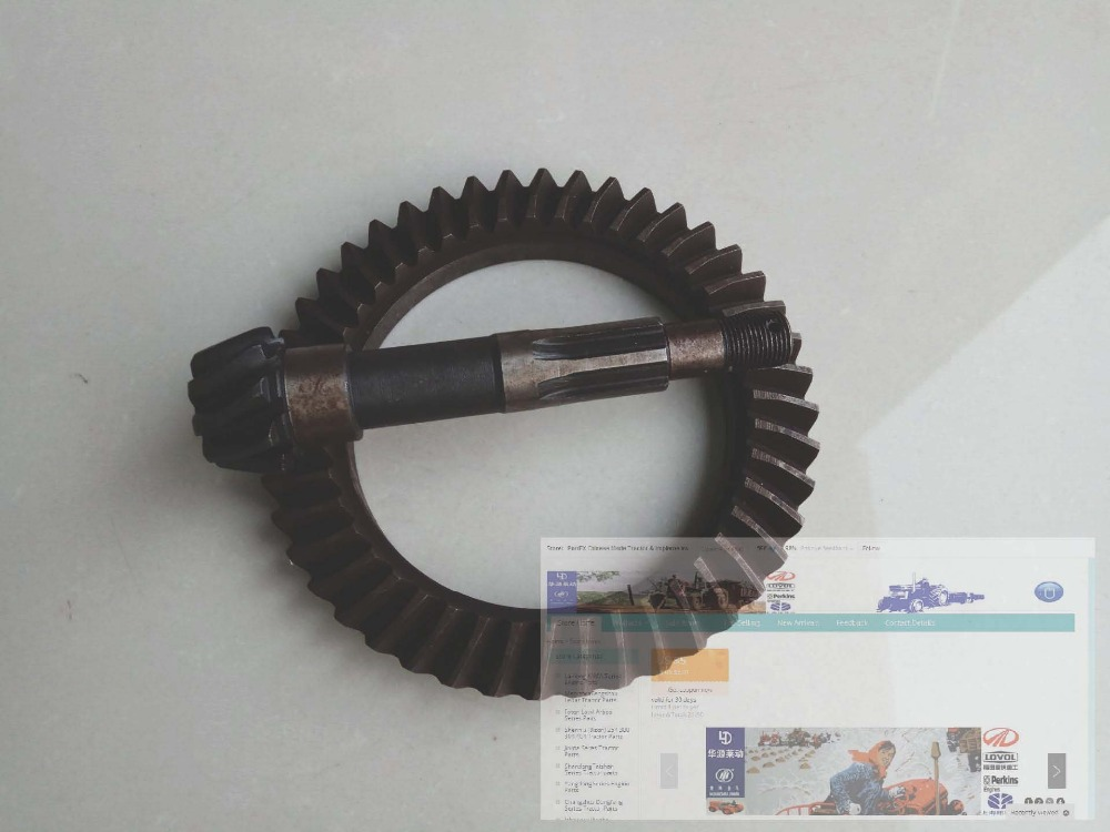 Shandong Taishan model TS304, the spiral bevel gear with shaft for front axle, Part number: tc02311010047 tc0231101004 the housing for front axle
