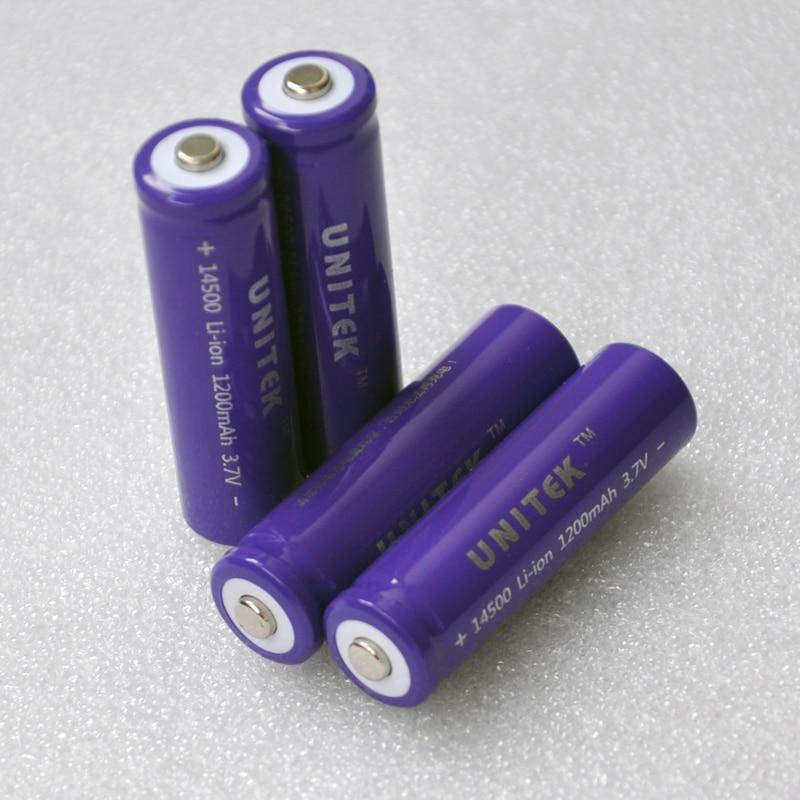 12 20 штук/packunitek icr3.7v литий ионный аккумулятор 1200 мАч литий ионный элемент аа размера для лазерных фонарик фиолетовый