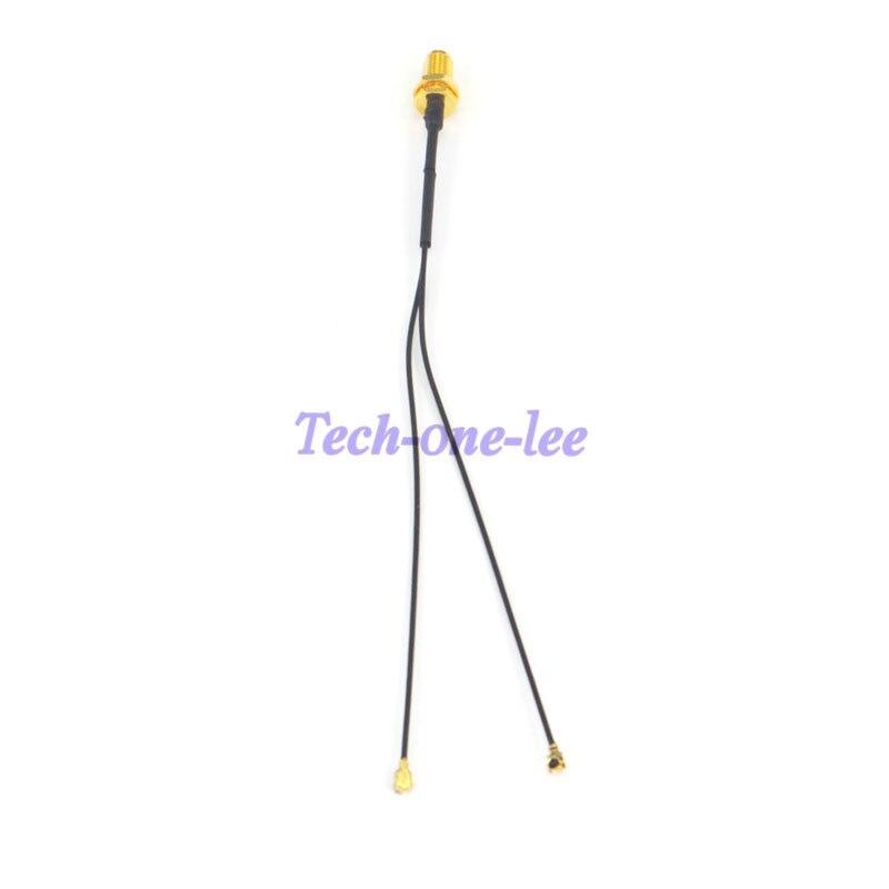 imágenes para 2 unids/lote 2 Mini PCI U. FL a SMA hembra conector de Antena WiFi Pigtail Cable IPX a SMA Jack Adaptador de Cable de Extensión 15 cm