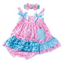 6-24M  Newborn Girl Dresses Sweet Spring/Summer Baby Dress for Cotton Print Floral Sleeveless Sets