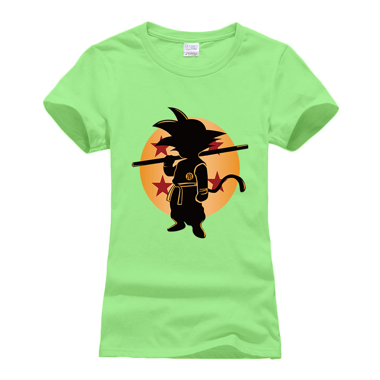 high quality T Shirts for women Cartoon Summer Cotton Short Sleeve casual clothes Dragon Ball Z Super Saiyan camisetas 2019 tees