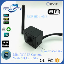 720P Mini Wireless WIFI Camera IP SD Card Slot P2P Onvif CCTV Pin Hole IP Cam Security For Home or Business Surveillance