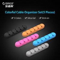 ORICO Cable Winder Desktop Earphone Cable Organizer Wire Holder Silicone USB Charger Cable Management Clips 5