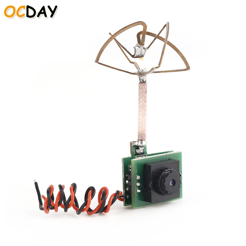 1pcs OCDAY 5g FPV 48CH 5 8G 25MW 600TVL Camera Built in Transmitter and Antenna