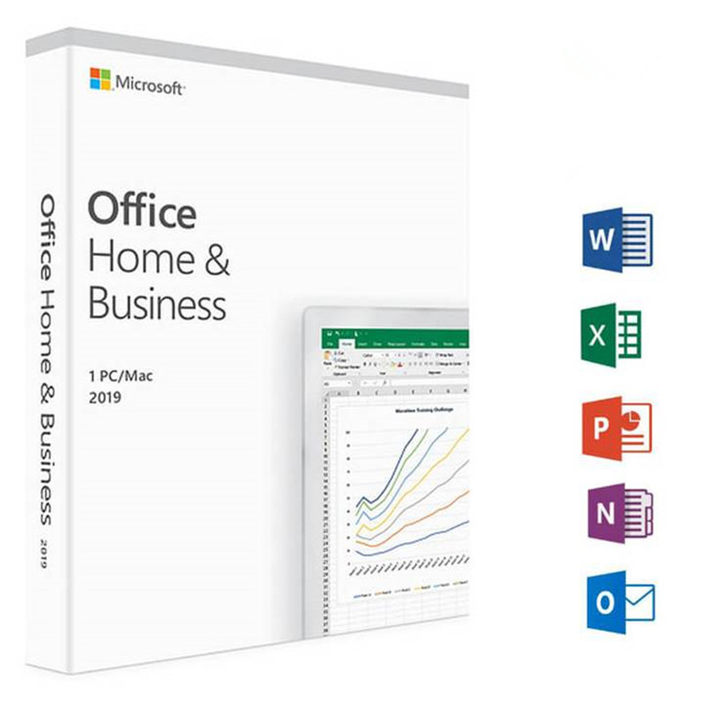 Microsoft Office Home & Business 2019 For Mac/Windows License Product Key With Retail Box DVD Version Software | 1 User/1 Device(China)