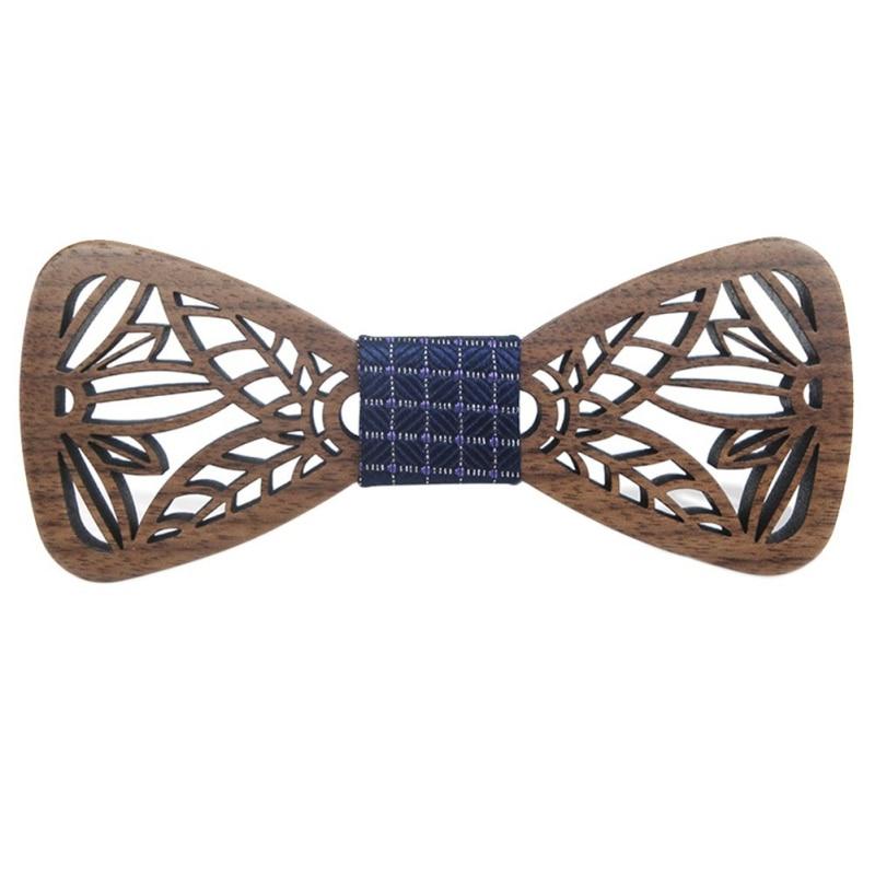 ROPALIA Hollow Wood Fashionable  Bow Ties For Men Wedding Suits Wooden Bow Tie Butterfly Shape Bowknots Gravatas Slim Cravat