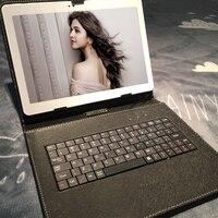 K109 Teclado Dom gratuito 10.1 Polegada Tablet android 7.0 telefone 4G LTE tablet pc RAM 4 GB ROM 64 GB 8 MP IPS computador MT6753