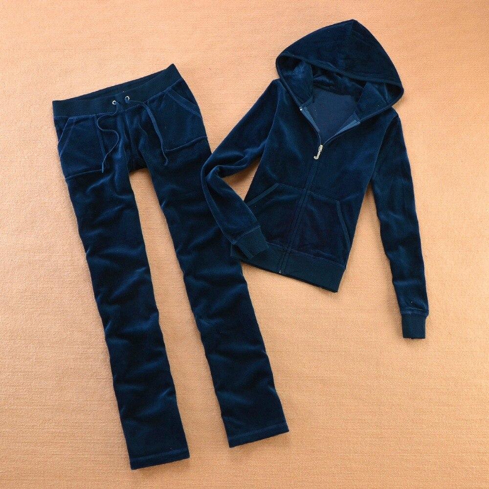 Big Deal Brand Velvet 2018 New Women S Fabric Tracksuits Velour Suit