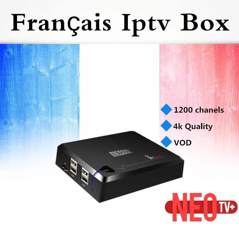 France IPTV KI Pro DVB S2/T2/C Android 7.1 TV Box Amlogic S905D Quad Core Europe French Dutch Belgium British