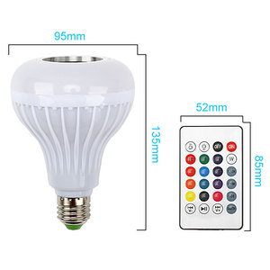 Image 5 - Smart E27 RGB Bluetooth Speaker LED Bulb Light 12W Music Playing Dimmable Wireless Led Lamp with 24 Keys Remote Control