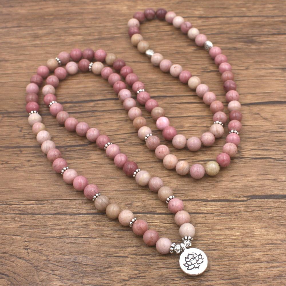 Rhodonite Mala Beads 3