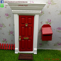 Hot 1/12 Scale Miniature Wooden Tooth Fairy Door and Letter Box Free Shipping