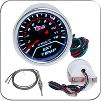 2 52MM Universal Exhuast Gas Temperature Car Gauge 200 1200 C Meter Auto White LED