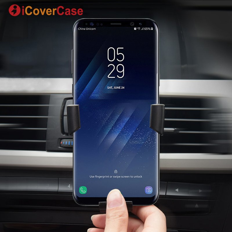 Wireless Car <font><b>Charger</b></font> Qi Receiver Stand For Samsung <font><b>Galaxy</b></font> A6 A6 Plus A8 <font><b>A9</b></font> Star A7 2018 J4 J6 + Air Vent Mount Holder <font><b>Charger</b></font> image