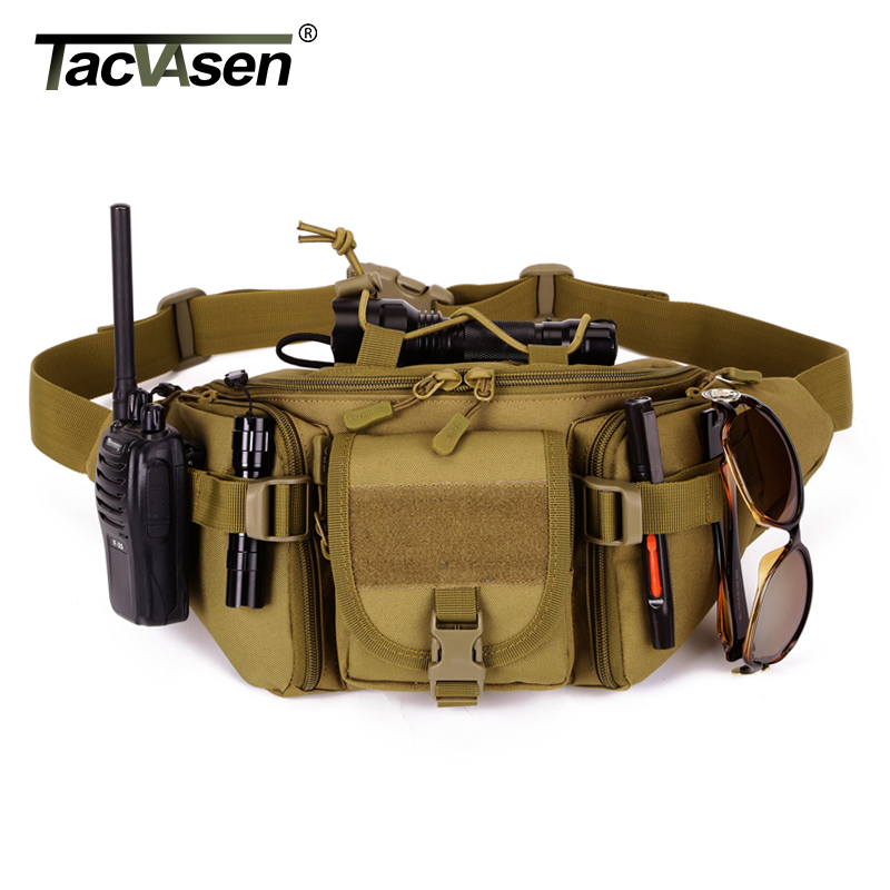 TACVASEN Military Waist Bag Molle Pouch Belt Loops Bags Men's Shoulder Bag Casual Camouflage Nylon Waist Pack TD-SHZ-008
