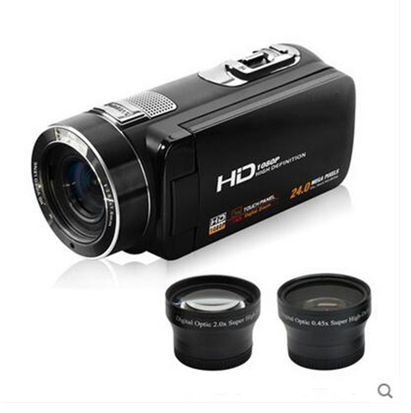 Full HD 1080p Digital Video Camera fotografica Support Face Detection Camcorder 3.0 Touch Screen 24MP 16x Zoom Recorder 318