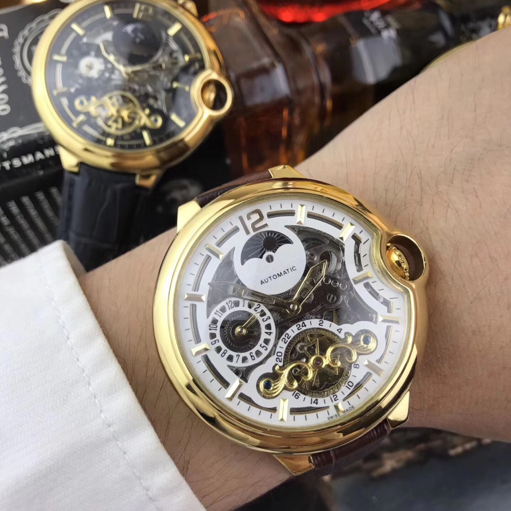 лучшая цена Mens Watches Top Brand Runway Luxury European Design Automatic Mechanical Watch S0710