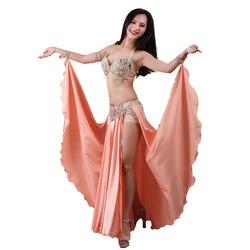 2019 neue Leistung Dancewear Bauchtanz Kleidung Outfit C/D Tasse Maxi Rock Professionelle Frauen Ägyptischen Bauchtanz Kostüm Set