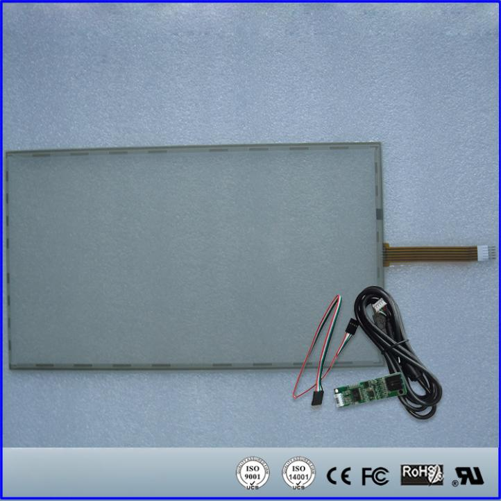 359mmx212mm Resistive Touch Screen Panel + 5 Wire USB Kit for 15.6'' inch Monitor 17inch resistive touch screen panel 382 2x239 5mm 5wire usb driver board kit for 17 monitor