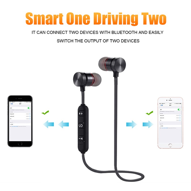 Bluetooth Earphones Sporting Running Wireless Earphone Earpiece In-Ear In-Line Control Earbud For Mobile Phone MP3 MP4 Player (5)
