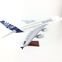 FREE SHIPPING 45 47CM A380 AIRBUS METAL BASE AND RESIN MODEL PLANE AIRCRAFT MODEL TOY AIRPLANE BIRTHDAY GIFT