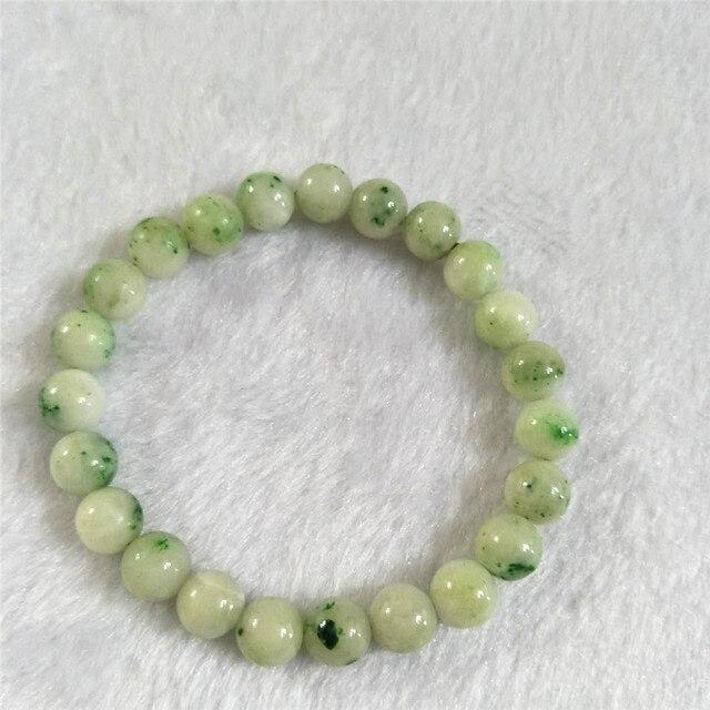 Transporte Da Gota livre Verde Natural Dushan Jade Estiramento Pulseiras Para Mulheres Rodada de Cristal Do Grânulo Charm Bracelet