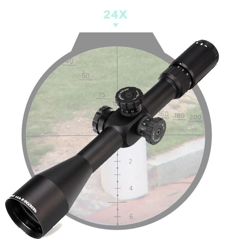 Lunette optique tactique FFP 6-24X50 SF premier plan Focal portée côté parallaxe verre gravé réticule verrouillage chasse