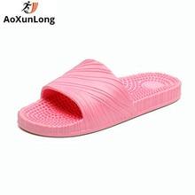 """""""AoXunLong"""" vasaros masažo šlepetės moteriški paplūdimio šlepetės. Skaidrės """"Flip Flop"""" moteriškas namo šlepetės """"Flip Flops"""" moterys Pantuflas De Mujer"""