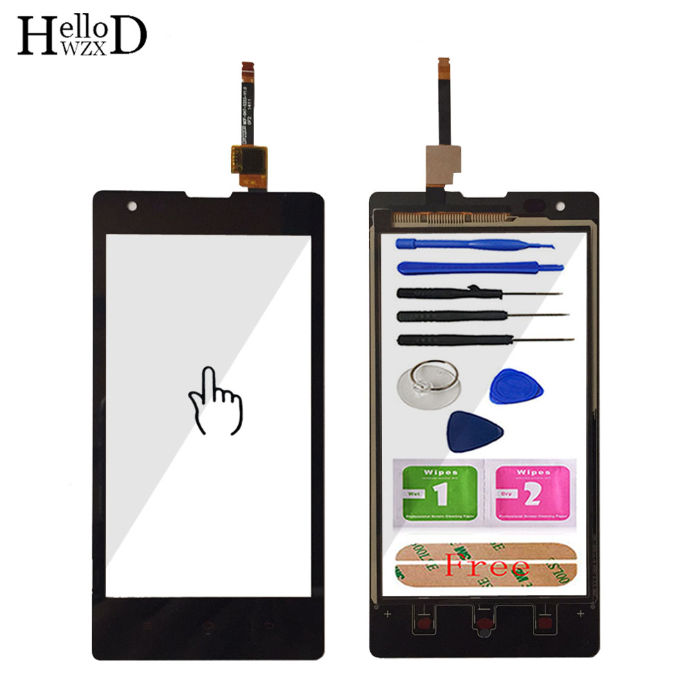 New TouchGlass Front High For Hongmi Red Rice Redmi 1 1S Touch Screen Panel Digitizer Glass For Redmi 1 1S Lens Sensor Adhesive