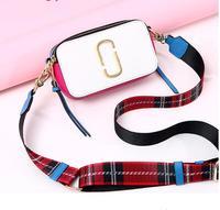 DuoLaiMi 2019 New Arrival Fashion Wide Strap Sequined Double Zipper Tassel Lattice Women Camera Ribbon Shoulder Handbag Bag Flap
