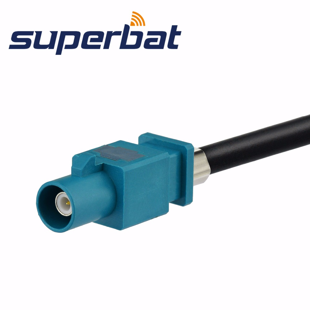 Image 3 - Superbat Universal Fakra Male Plug to Jack Female Aerial Antenna DAB + Splitter Adapter SMB Car Radioantenna dabdab aerialantenna female - AliExpress