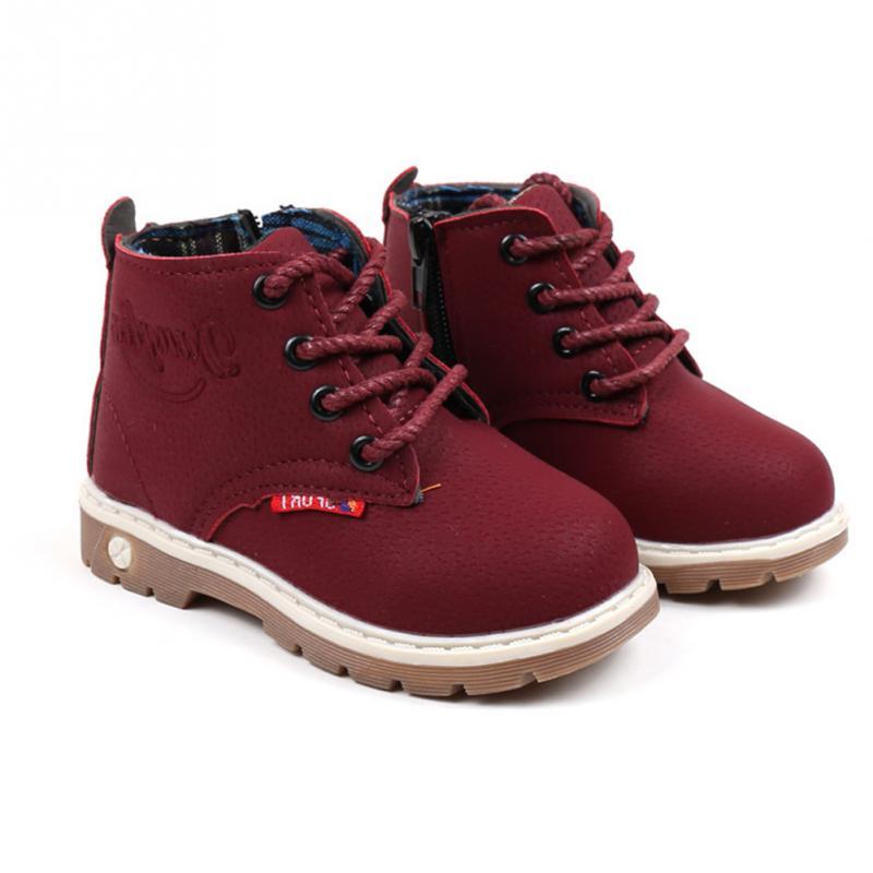 New Winter Fashion Boys  Girls Casual Plush Cashmere Warm Boots anti-skid Boots Autumn