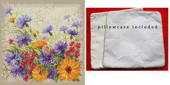 Almohada de alta calidad, Kit de punto de cruz, Riolis 1413, Margarita, manzanilla, flor, flores, funda de almohada, funda de almohada incluida