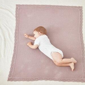 Image 4 - Örme dalga kenar popüler geri dönüşümlü bebek örgü battaniye kanepe atmak yatak yorgan çocuklar arka koltuk battaniye yenidoğan kundak