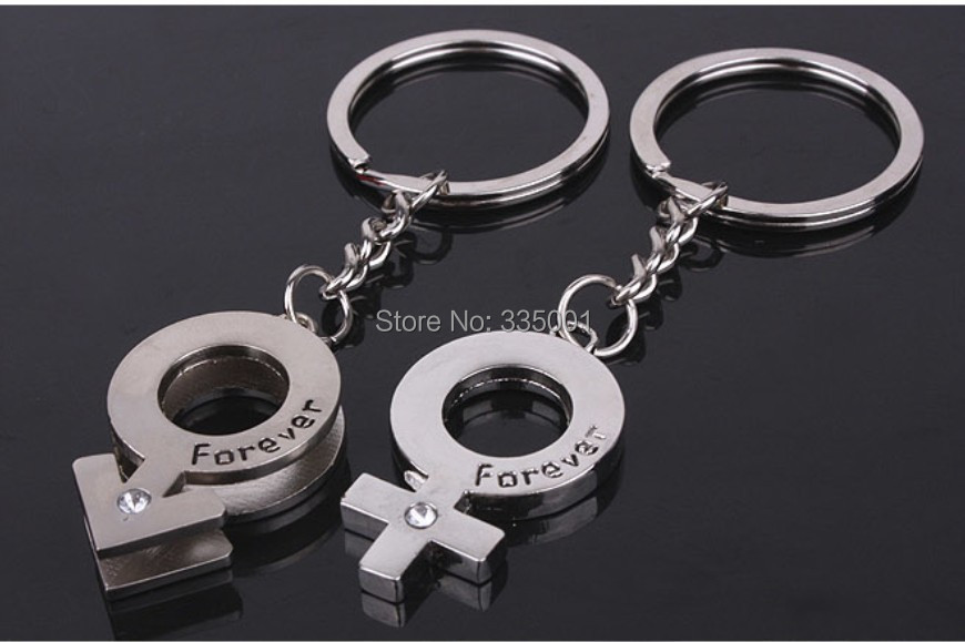 wedding favor and gift for guest--alloy forever love Mini diamond character symbol a couple Keychain party giveaways 200pcslot