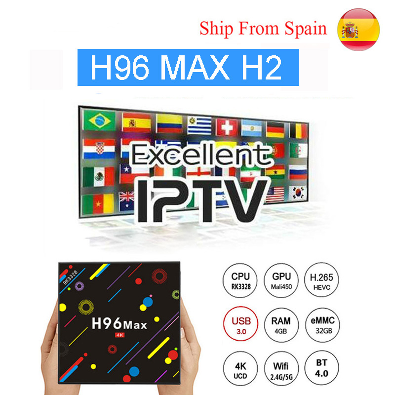 H96 Max H2 Android 7.1 TV Box 4G 32G RK3328 Quad Core 4K Smart Tv VP9 HDR10 USB3.0 WiFi Bluetooth 4.0 Set Top Box Media Player r tv box mini android 7 1 1 rk3328 4k vp9 tv box