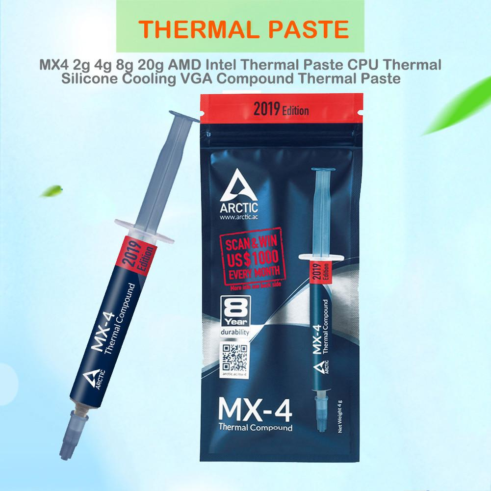 MX-4 2g 4g 8g 20g AMD Intel Thermal Paste No Metal Particles CPU Silicone Cooling VGA Compound Thermal Paste Heat Dissipation