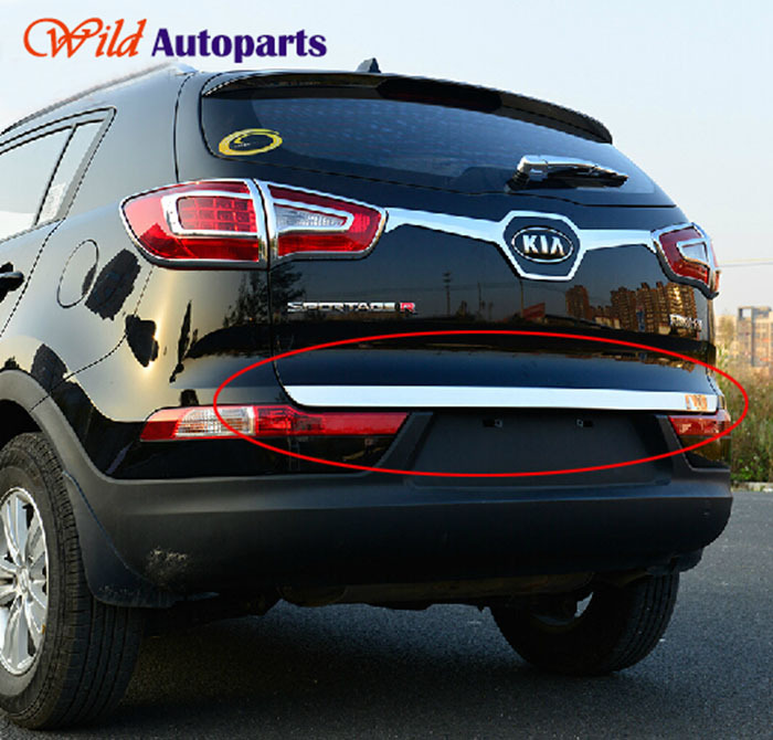 Stainless Steel Mirror Chrome Rear Tailgate Door T...